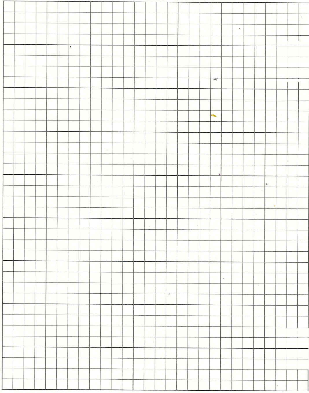 This is a photo of Clever Printable 1 Inch Graph Paper